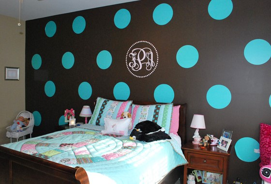 How To Paint Polka Dots On Bedroom Walls - HomeEbiz