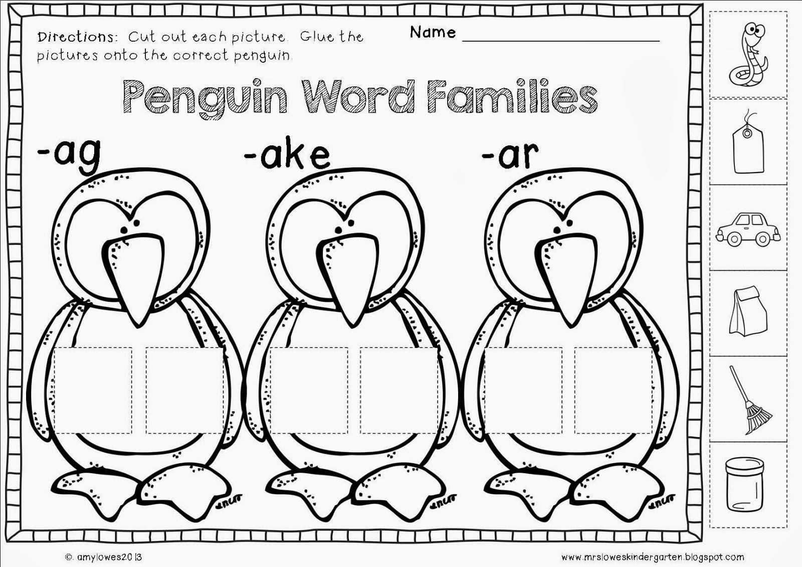 Mrs Lowes Kindergarten Korner No Prep Winter Math And Literacy Printables Giveaway