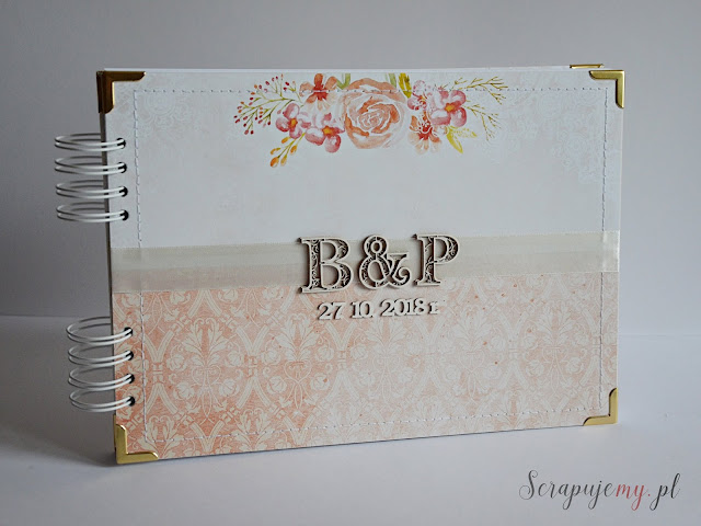 jesienny album ślubny, album clean&simple, album ślubny z inicjałami, prosty album ślubny, wedding album, księga gości