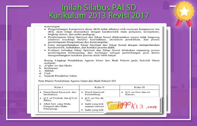 Silabus PAI SD Kurikulum 2013 Revisi 2017