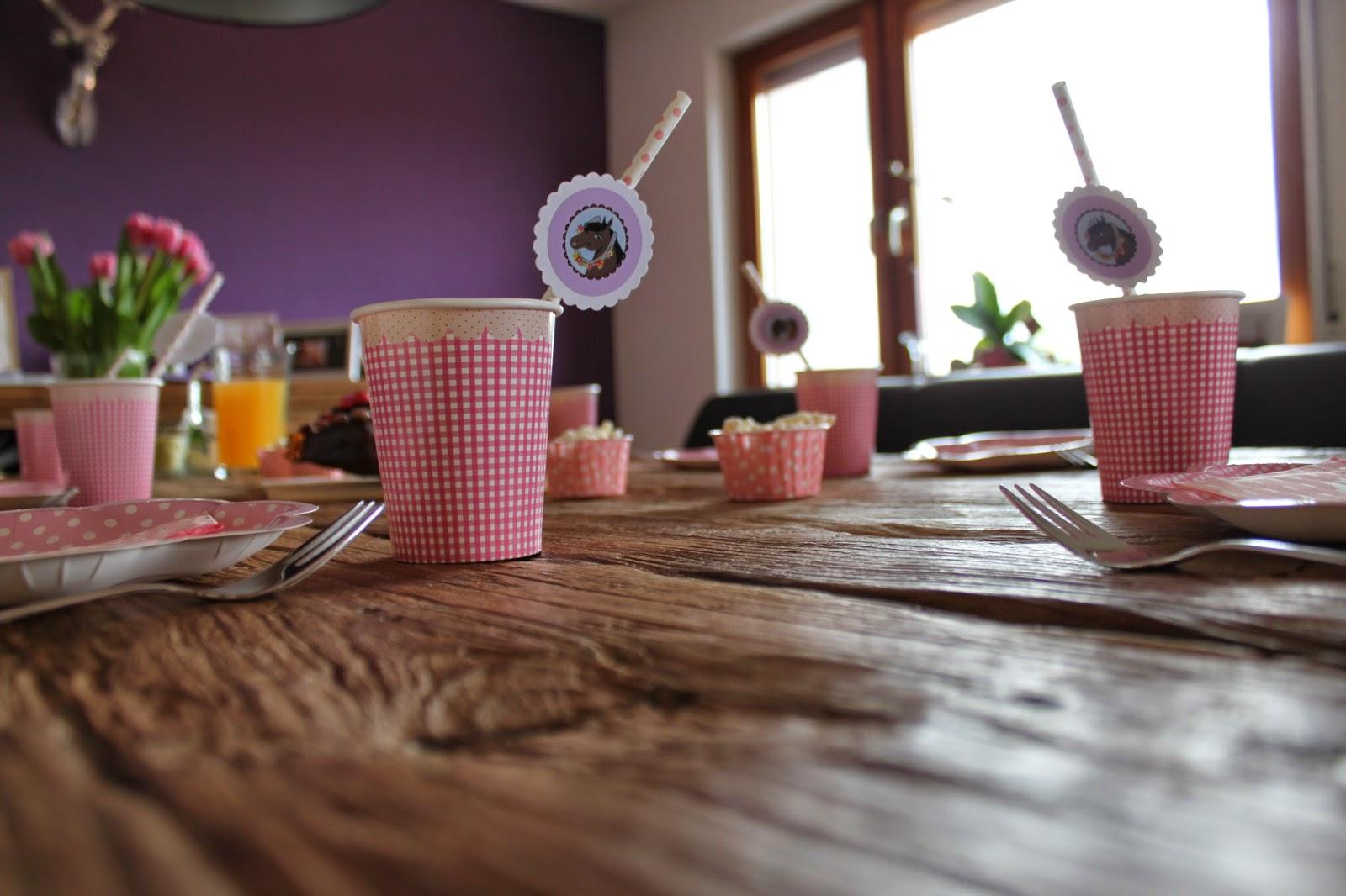 lila haus kindergeburtstag mit dem motto pferde. Black Bedroom Furniture Sets. Home Design Ideas
