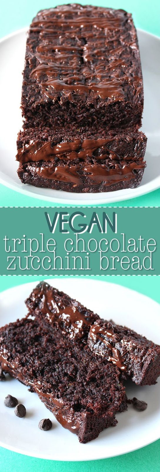 Vegan triple chocolate zucchini bread