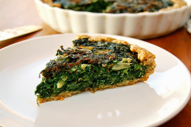 Swiss Chard and Spinach Quiche