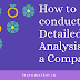 How to conduct Detailed Analysis of a Company