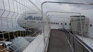 Begehbare Tragfläche der Boing 747.