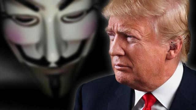Anonymous pide a sus simpatizantes atacar a Trump