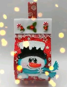 Adornos De Navidad Con Rollo De Papel Higienico Simple Manualidad - Adornos-de-navidad-con-rollo-de-papel-higienico
