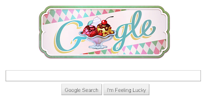Google Search Doodle - 119th Anniversary of the First Documented Ice Cream Sundae