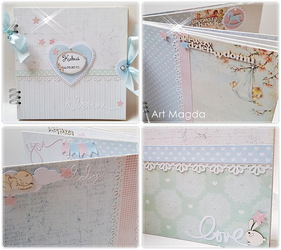 ArtMagda, handmade, album ręcznie robiony, dla dziecka, prezent
