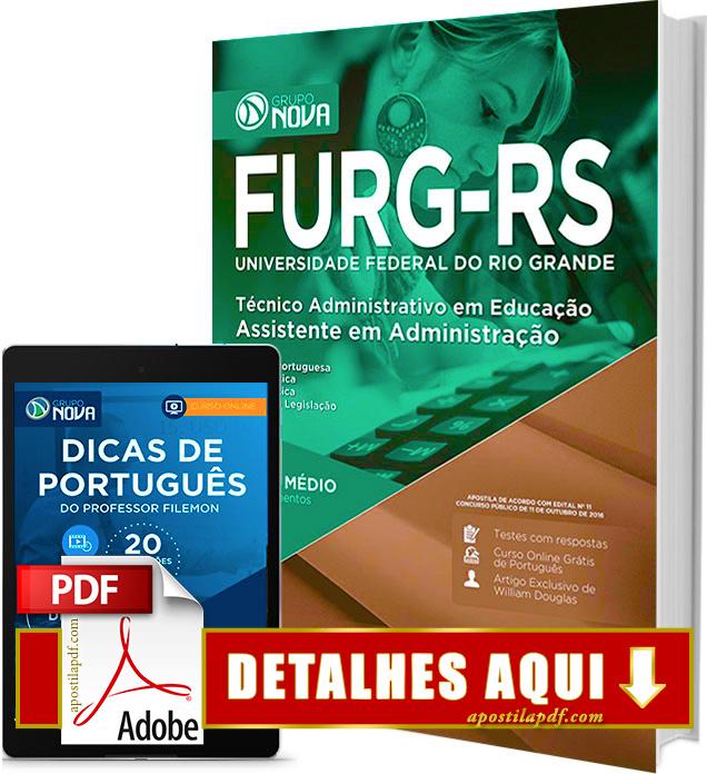 Apostila FURG RS 2016 Assistente em Administração Impressa