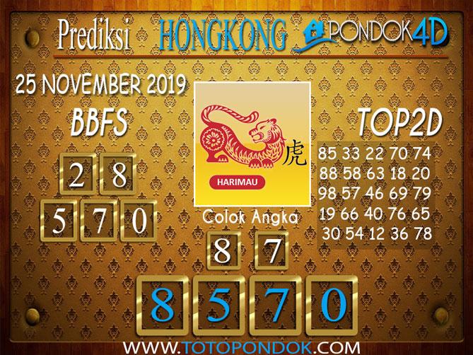Prediksi Togel HONGKONG PONDOK4D 25 NOVEMBER 2019