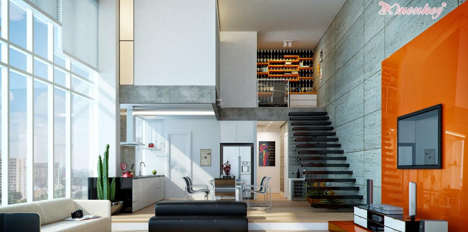 Hogares frescos tendencias para salas modernas y espaciosas for Casa moderna black walnut luxury vinyl plank