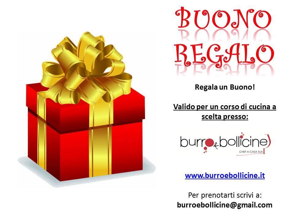 Burro Bollicine Buoni Regalo