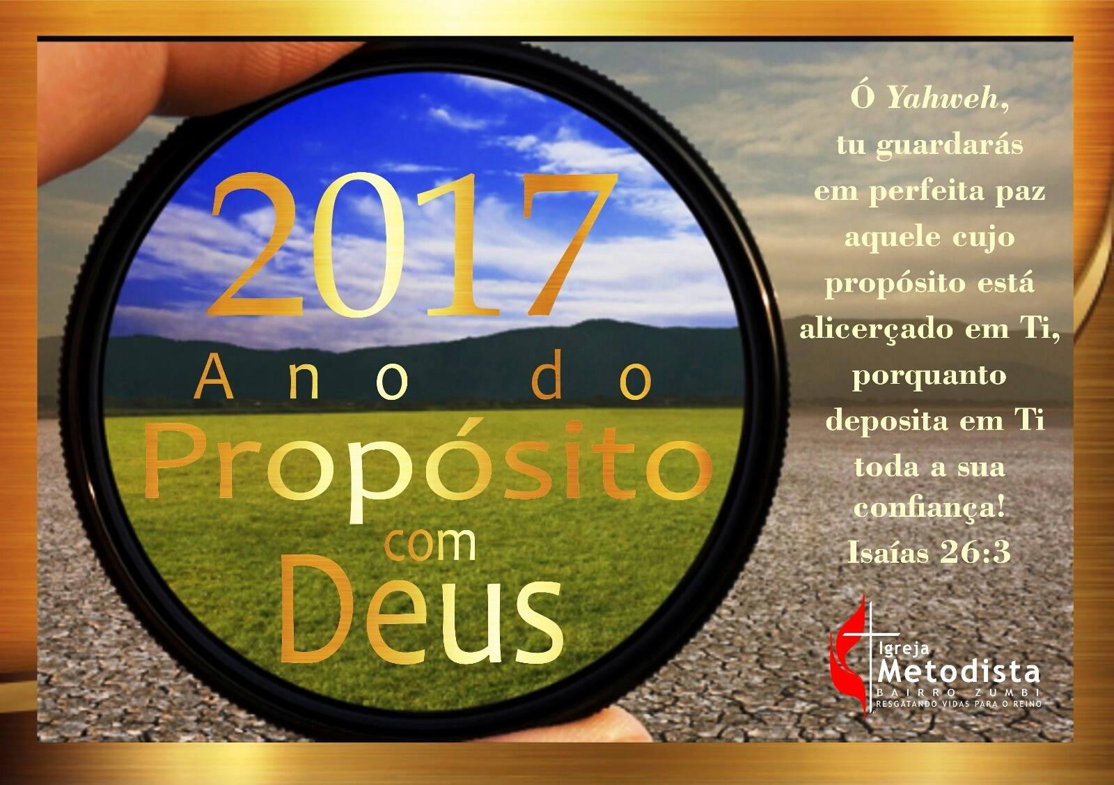 2017 Ano do Propósito com Deus