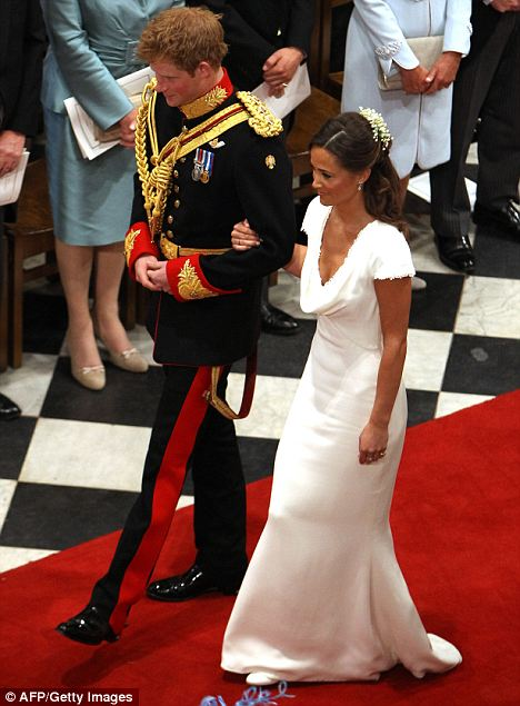 Lord Of The Ring Prince Harry Walks Sister Bride And Maid Honour Philippa Middleton Down Aisle In Westminster Abbey
