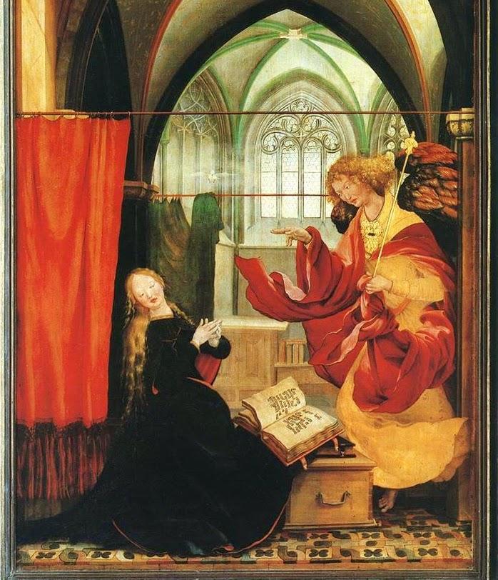 annunciation - isenheim altarpiece
