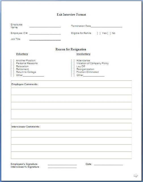 Employee Exit Form. Human Resource Management Human Resources