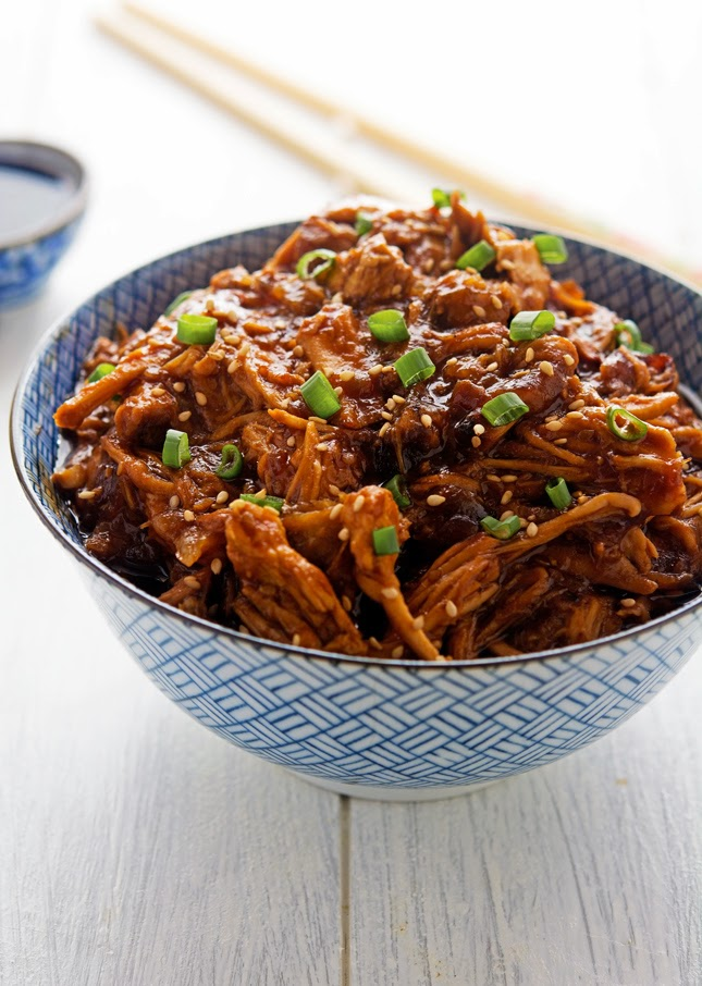 Crock-Pot Honey Sesame Pulled Pork