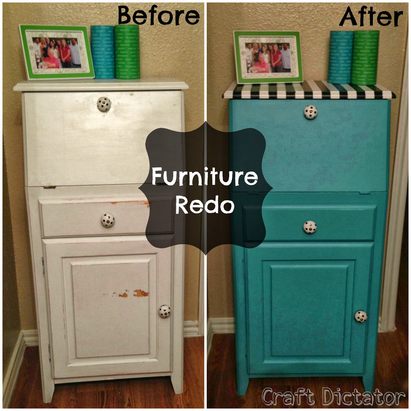 Fit Crafty Stylish And Happy Guest Bathroom Makeover: Two It Yourself: Teal Furniture Makeover {Guest Post From