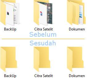 Cara agar menampilkan ikon folder saja di Windows 10
