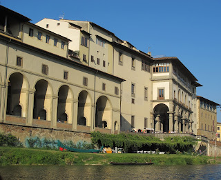 The Uffizi overlooks the Arno river in central Florence