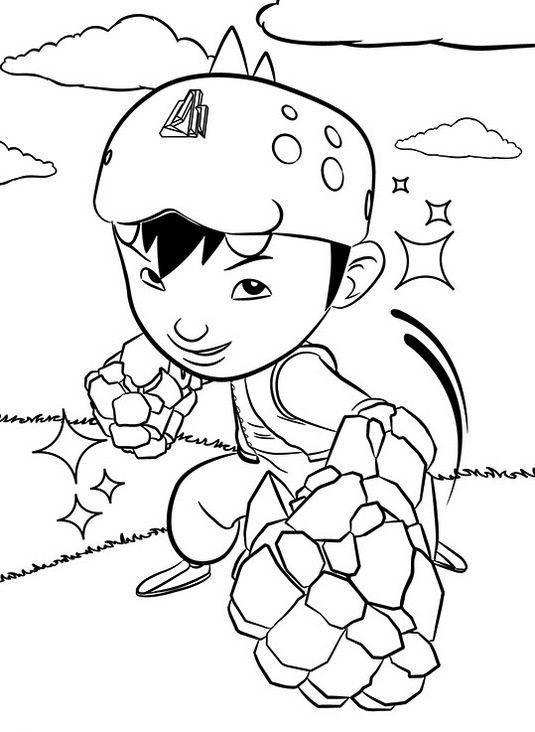 Tranh cho bé tô màu BoBoiBoy 7