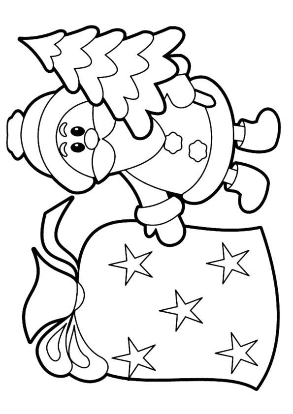 free christmas santa printable coloring pages - Free Christmas Printable Coloring Pages