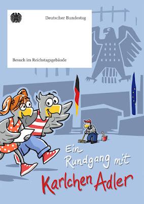 Karlchen Adler zu Besuch im Reichstagsgebäude