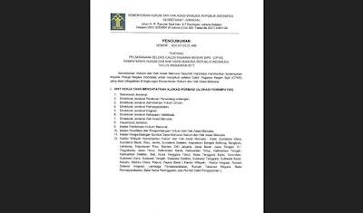 Pengumuman Lengkap Formasi CPNS di Mahkamah Agung dan Kementerian Hukum dan HAM