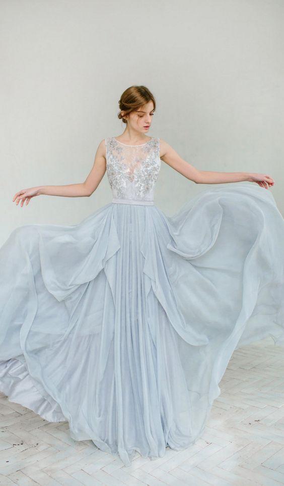 Gaun Pengantin Warna Biru Paling Cantik Meenikah Com