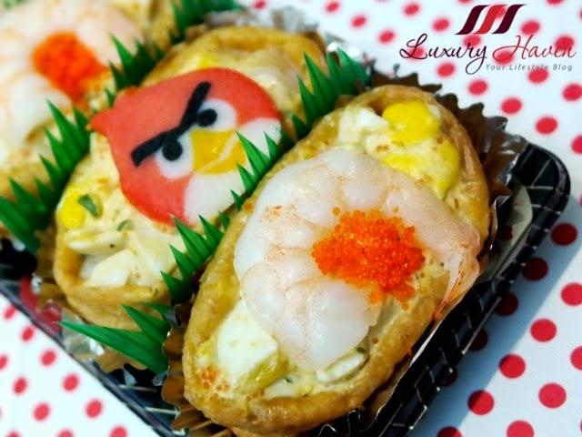 angry birds japanese inari sushi bento recipe