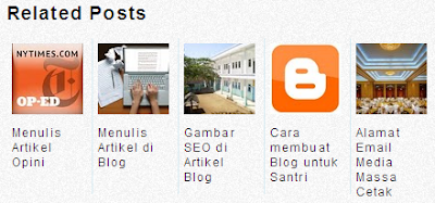 Cara Membuat Related Posts Blogger Blogspot 2014