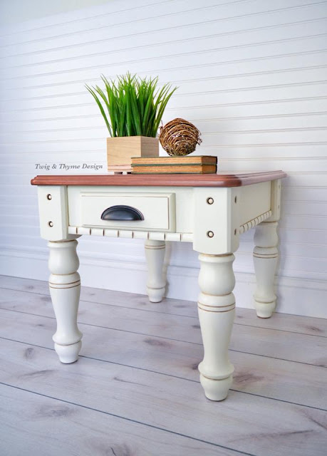 painted end table - twig & thyme design