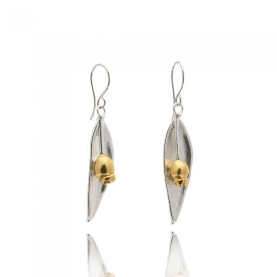 Thallo - bijuterii grecesti din frunze maslin naturale cercei
