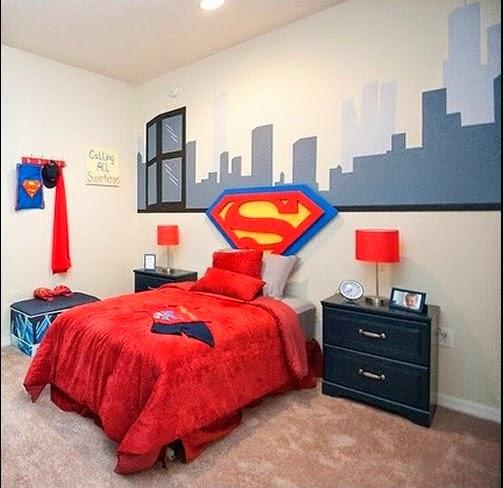 Dormitorios tema superman dormitorios colores y estilos for Dormitorio super heroes