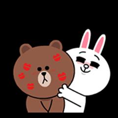 布朗熊&可妮兔☆ 爱心满满♪