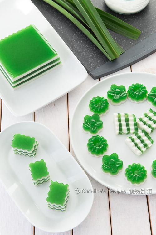 Pandan-Coconut Layered Agar Jelly01