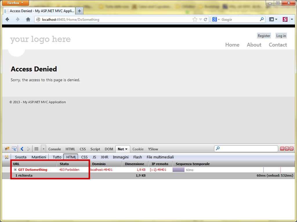 The Chef Programmer: Returning an HTTP 403 Forbidden error with ASP