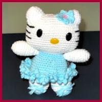 Kitty bailarina amigurumi