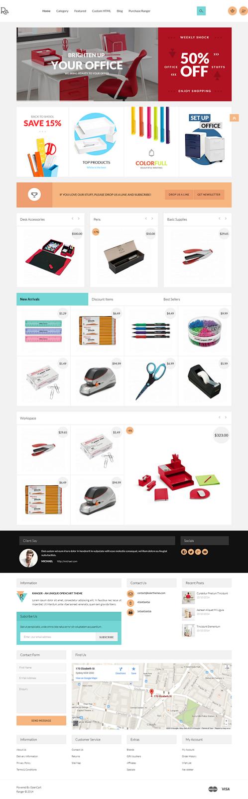 OpenCart theme