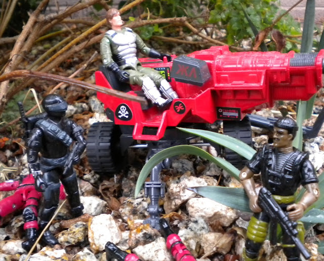 2007 Convention Exclusive Grand Slam, Lazer Exterminator, HAL, 1985 Snake Eyes, Bootleg Crimson Cobra Trooper, Black Major, European Exclusive, Red Shadows, 1994 Stalker, Action Force
