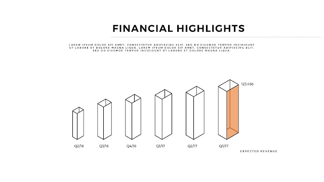 Financial Highlights And Infographic Elements in Free PowerPoint Template Slide 6