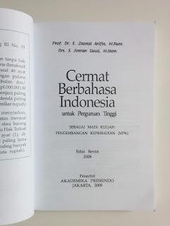 Cermat Berbahasa Indonesia untuk Perguruan Tinggi