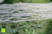 Muster: IBuyi Weinlese-Spitze Rollentischläufer Stuhl-Schärpe für Hochzeits-Festival Ereignis Tischdekoration 15cmx22m (6''x 24Y) - Weiß
