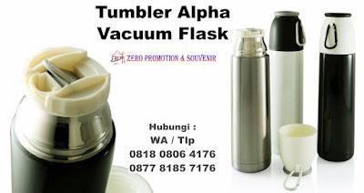 Tumbler Vacuum Flask Stainless atau yang disebut juga Barang Promosi Custom Alpha Vacuum Flask Merchandise, Souvenir TUMBLER BOTOL MINUM, Termos Air / Vacuum Flask Alfa 500 ML Mizzu, Barang Promosi termos, Merchandise Termos Standart Murah