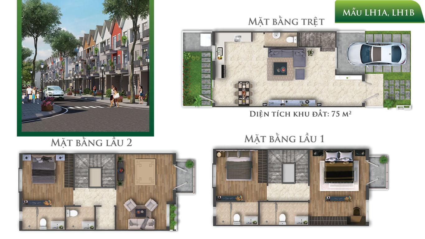 mat bang 3 tang nha pho Park Riverside