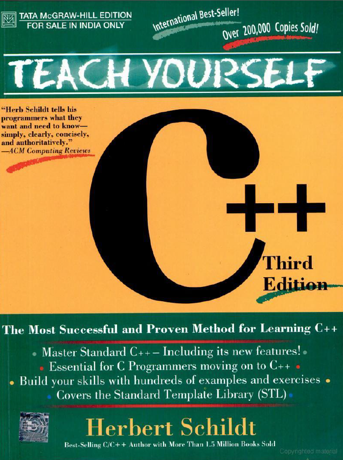 Teach yourself C++ Third Edition ~ Computer Science