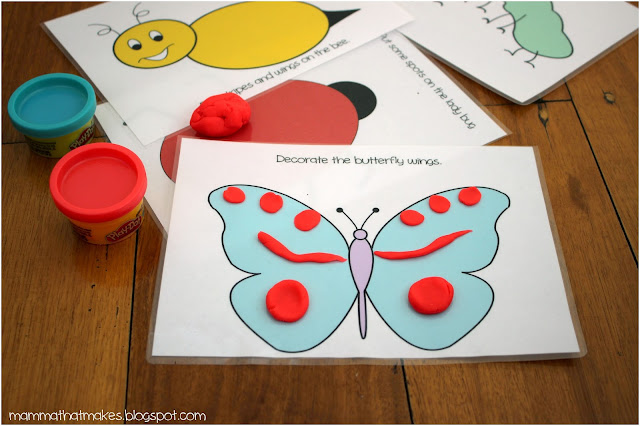 Insect Play Dough Mats