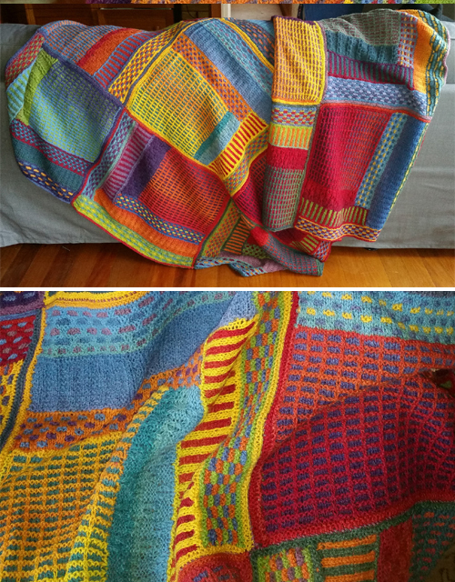 Slip Stitch Sampler Throw - Free Pattern