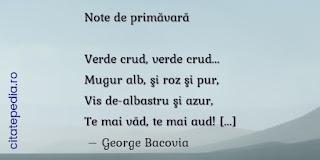 Note de primavara, de George Bacovia